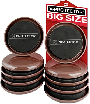 """8 pcs HEAVY DUTY 9-1//2/"""" x 5-3//4/"""" Pads Furniture Sliders For Carpet X-PROTECTOR"""