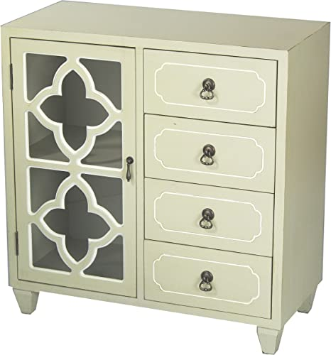 Heather Ann Creations 4 Drawer Wooden Accent Chest and Cabinet