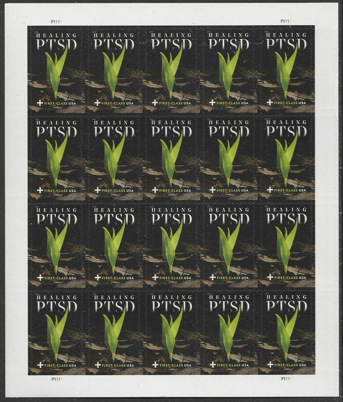 PTSD Semi-Postal Sheet of 20 Forever Postage Stamps Scott B7