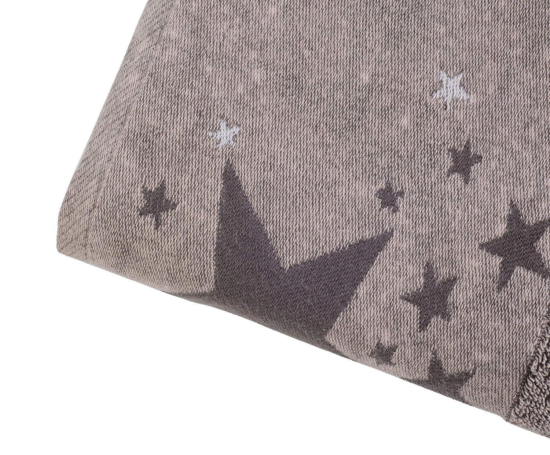 Gözze Handtuch-Serie Denim mit Sterne Bordüre Handtuch oder Duschtuch