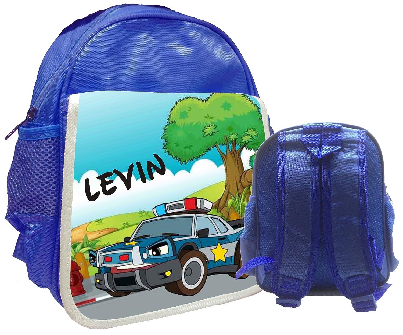 Kindergartenrucksack Bambini mit Name Kinderrucksack CityBag Polizeiauto