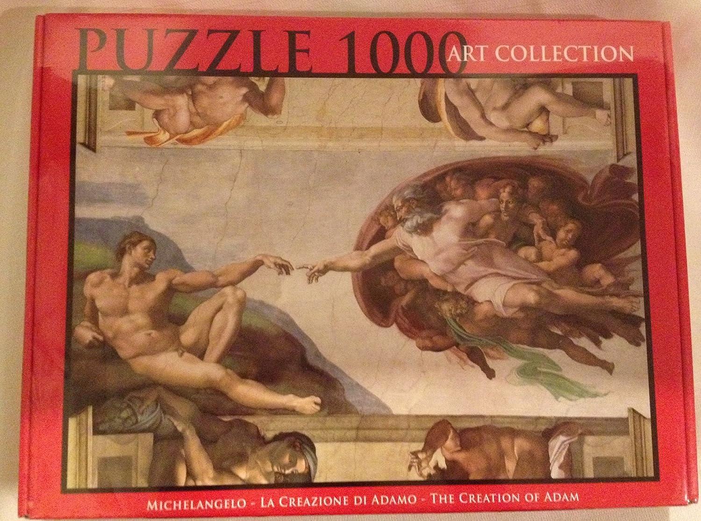 Amazon.com: Michelangelo – la creación de Adam 1000 piezas ...