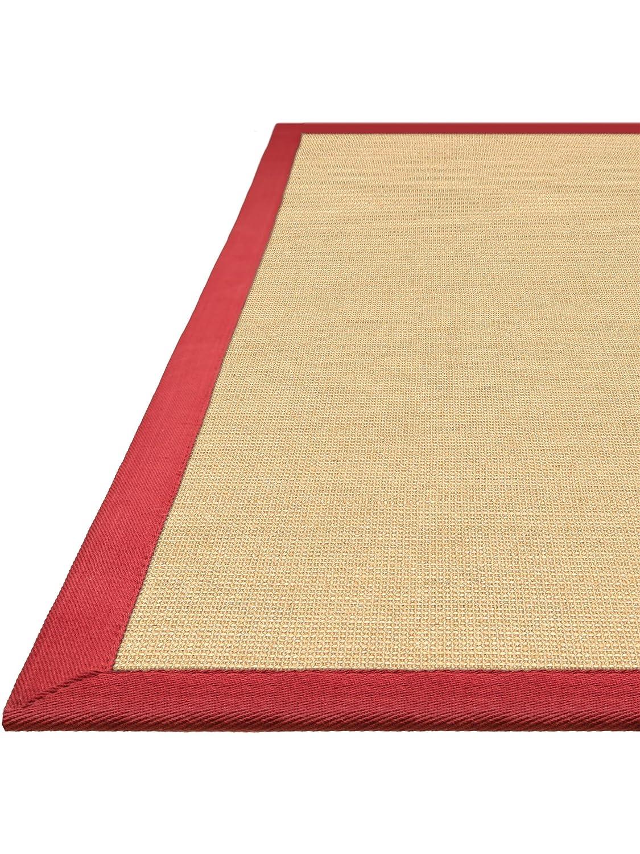 Benuta Sisal Teppich mit Bordüre Rot Rot Rot 120x180 cm   Naturfaserteppich für Flur und Wohnzimmer B00KQ10SLO Teppiche 163eb4