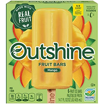 OUTSHINE Mango Frozen Fruit Bars 6 Pack
