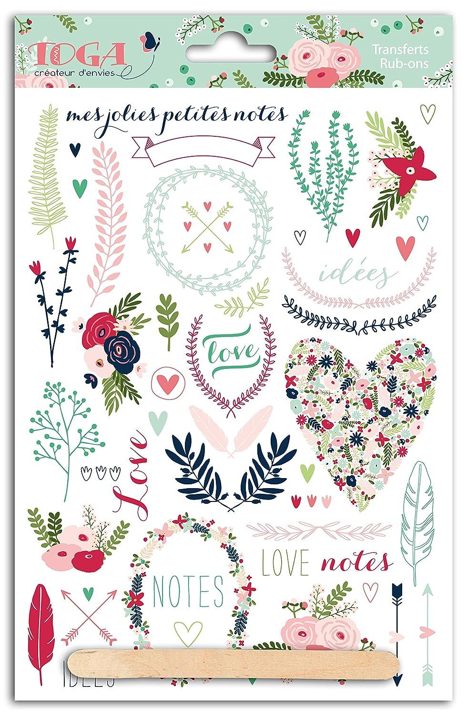 Youdoit RubOns Lovely flowers Colors