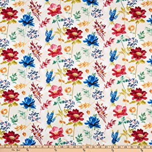 Wilmington Garden Charm Large Floral Cream Quilt Fabric By The Yard
