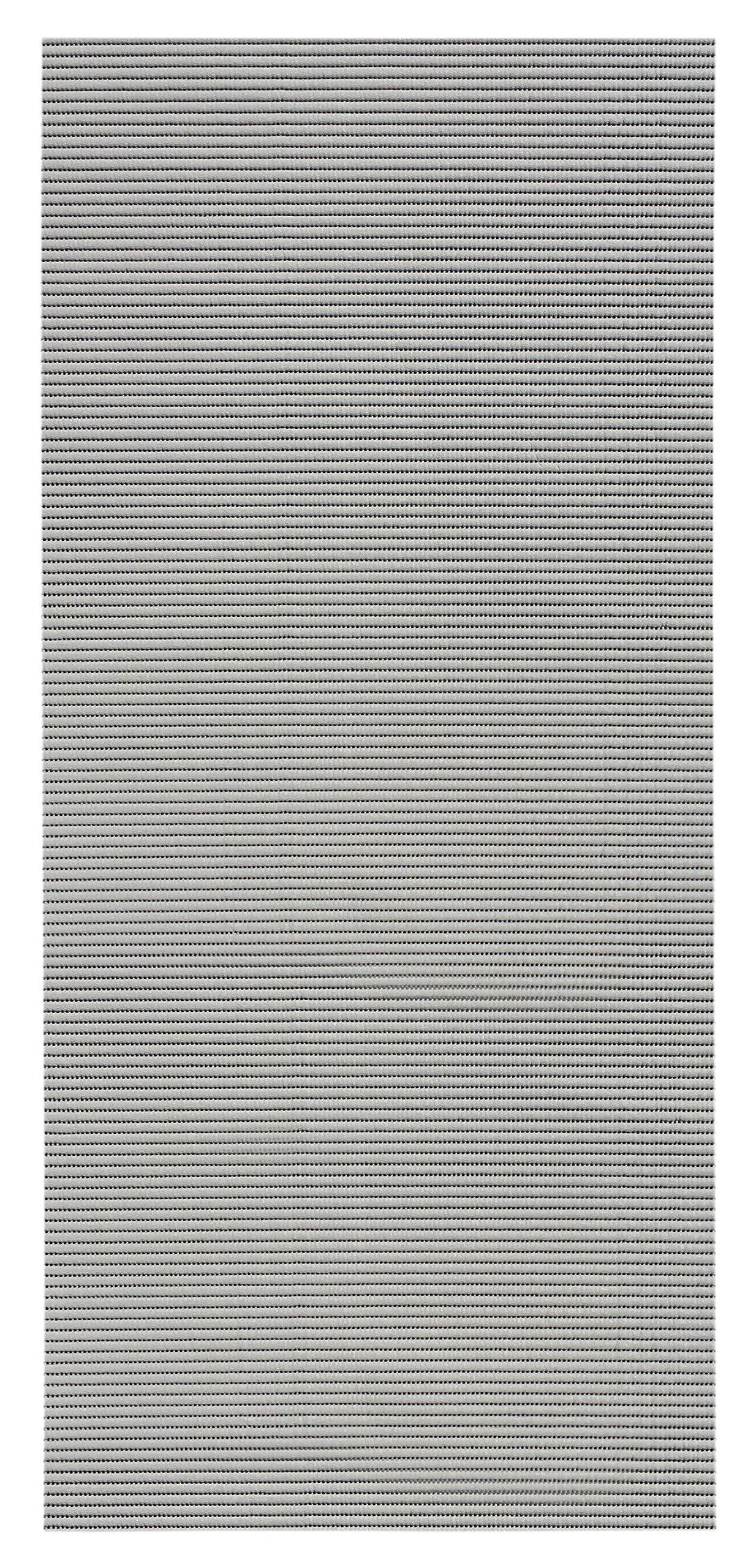 2-feet X 6-feet Foam Rubber Runner Rug | Silver Grey Solid Design Modern Floor Runner 2X6