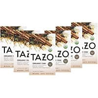 Tazo Tea Bags For a Warm Spiced Chai Black Tea Moderately Caffeinated Morning Drink 20 Tea Bags, Pack of 6