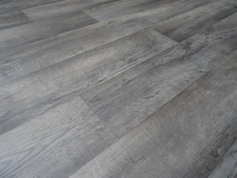 von Alpha-Tex 9.95/€//m/² PVC in Holzplanken-Optik grau L/änge: 350 cm, Breite: 400cm