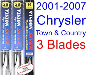 2001-2007 Chrysler Town & Country Replacement Wiper Blade Set/Kit (Set of