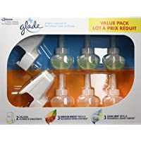 Glade PlugInsScented Oil Holders and Refills, Includes 2 Holders, 3 Refills of Clean Linen and 3 Refills of Hawaiian Breeze