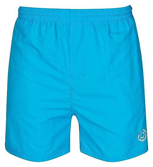 03748348f1 Bugatti ® - modern men's swim shorts, light blue with stripe size ...