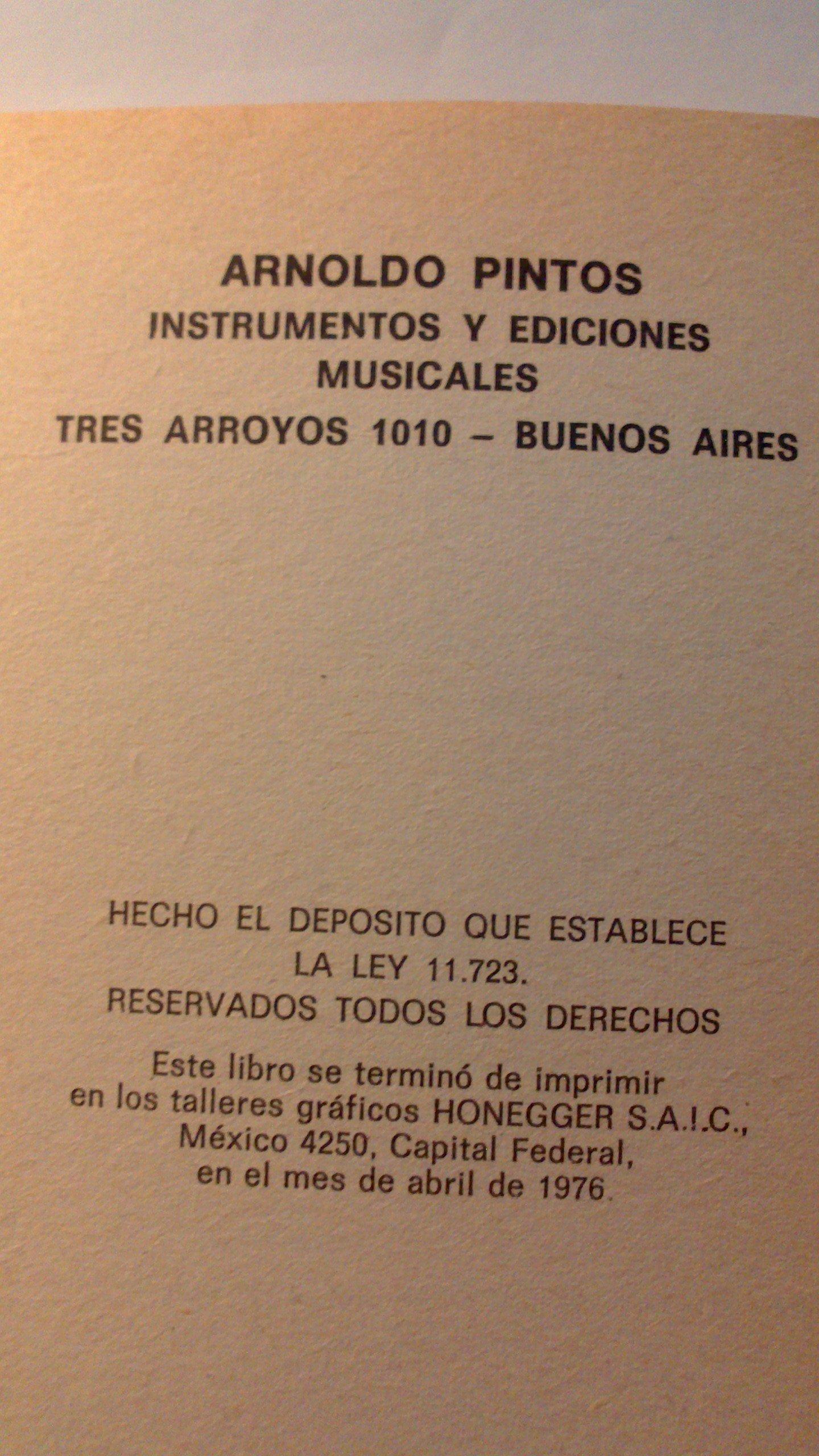 ENSEÑANZA DE GUITARRA DE ARNOLDO PINTOS TOMO II: Amazon.es ...