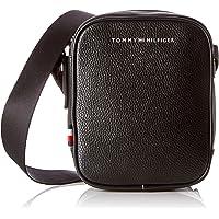 Tommy Hilfiger 汤米·希尔费格 Th Downtown ?#38405;?#35760;者,男式单肩包,黑色,7 x 20.5 x 17厘米
