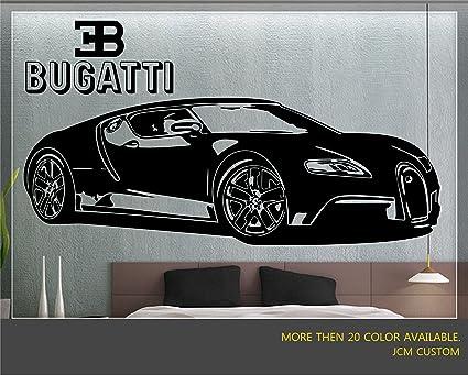 Jcm custom bugatti veyron super sport car removable wall vinyl decal stickers 62