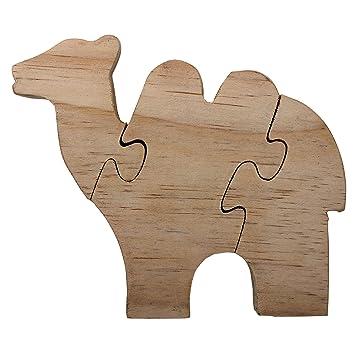 Regalos Ano Nuevo Rompecabezas De Madera Con Forma De Camello Buena