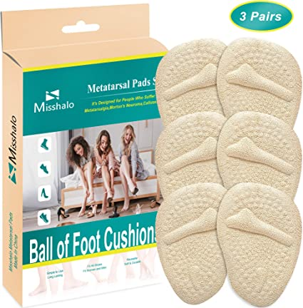 1 Pair Forefoot Pads Gel Ball of Foot Pads High Heel Insole Cushion Soft