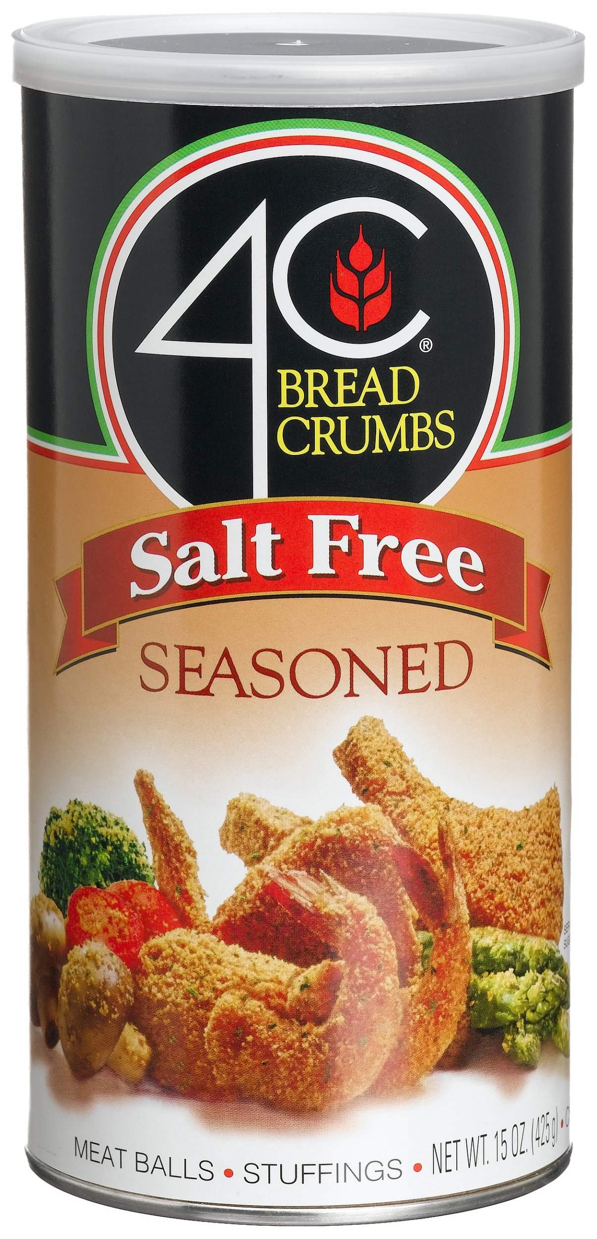 4C Salt Free Seasoned Bread Crumbs, 12-Ounce Canisters (Pack of 12)
