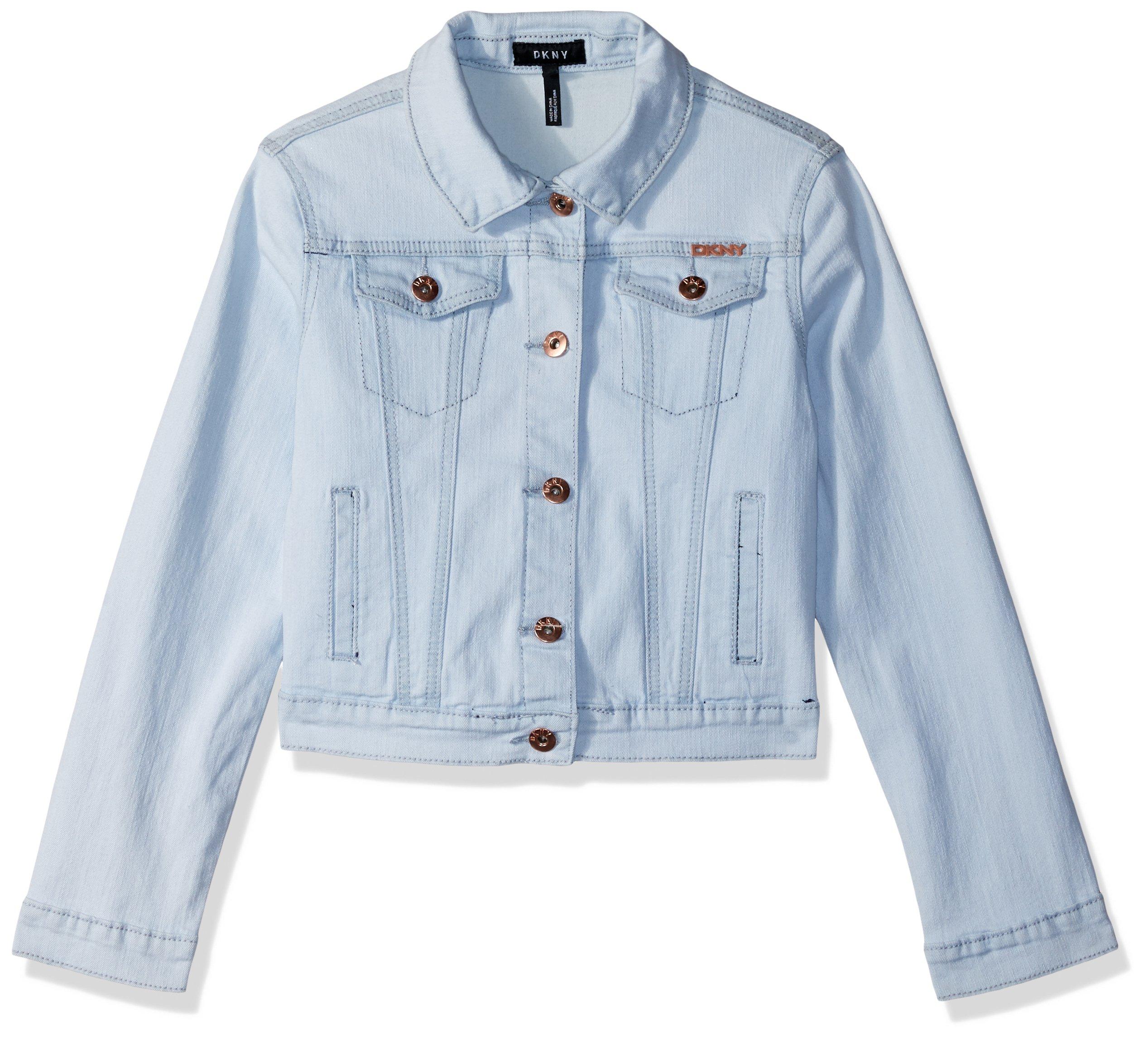DKNY Toddler Girls' Casual Jacket, Denim Hint of Indigo, 2T