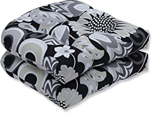 Pillow Perfect Outdoor/Indoor Sophia Graphite Tufted Seat Cushions (Round Back), 19