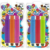 JA-RU Pull Pop Tubes Sensory Fidget Toys (6 Tubes in 2 Packs) Pop Play Tubes Sensory Toys Pipe Tools for Stress Toys and…