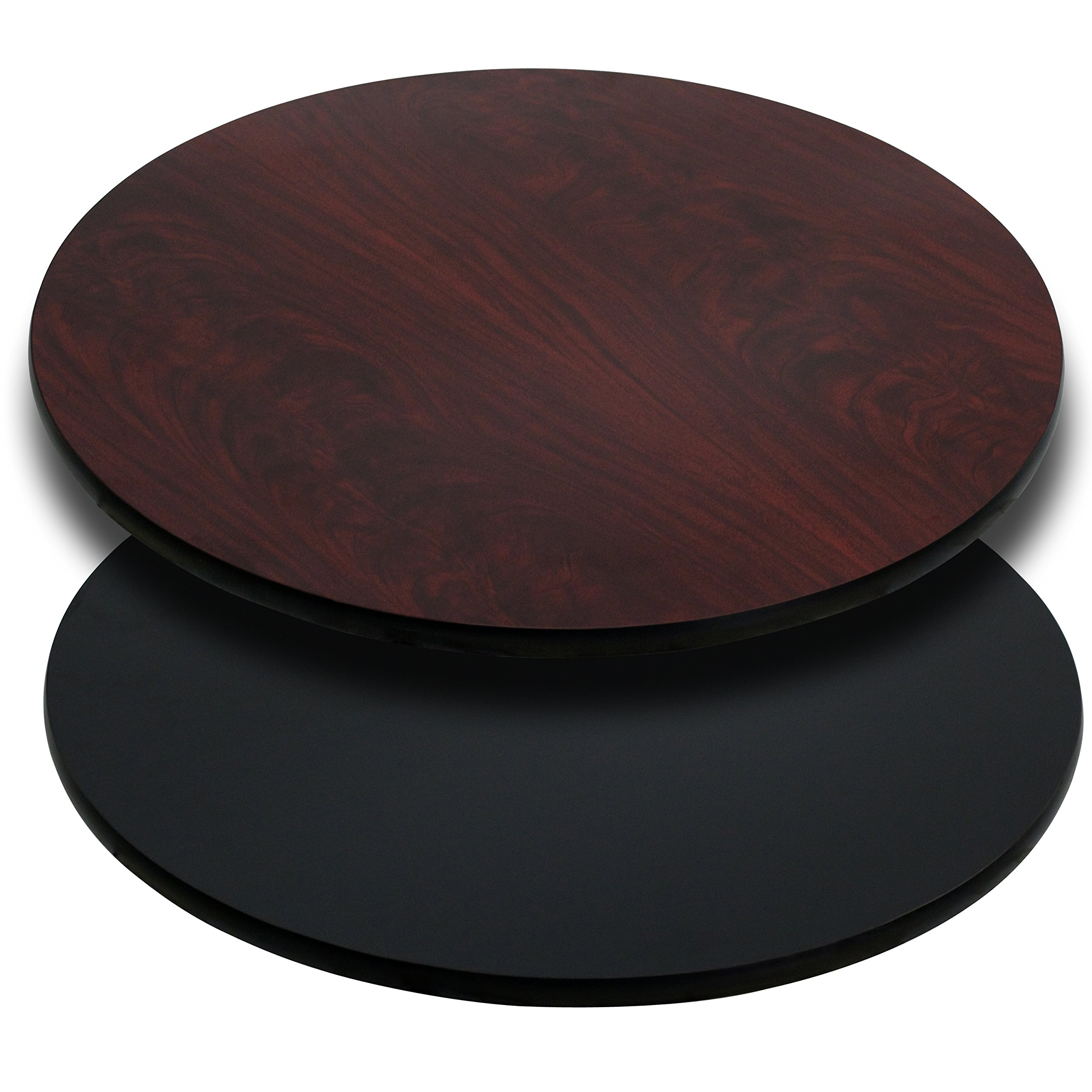 Flash Furniture 36'' Round Table Top with Black or Mahogany Reversible Laminate Top by Flash Furniture