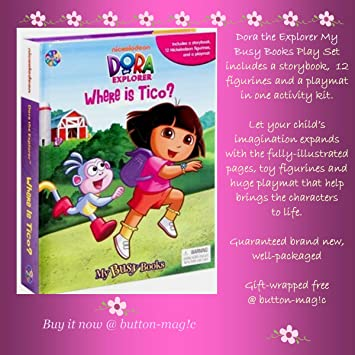 My Busy Books Includes Storybook Playmat 12 Mini Figurines Nickelodeon Dora