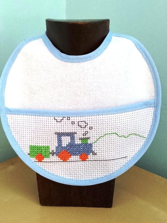 Babero bebé punto de cruz. Handmade. Artesanía: Amazon.es ...