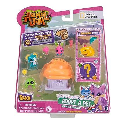 Amazon Com Animal Jam Series 3 Adopt A Pet 5 Pack Style 5 Toys