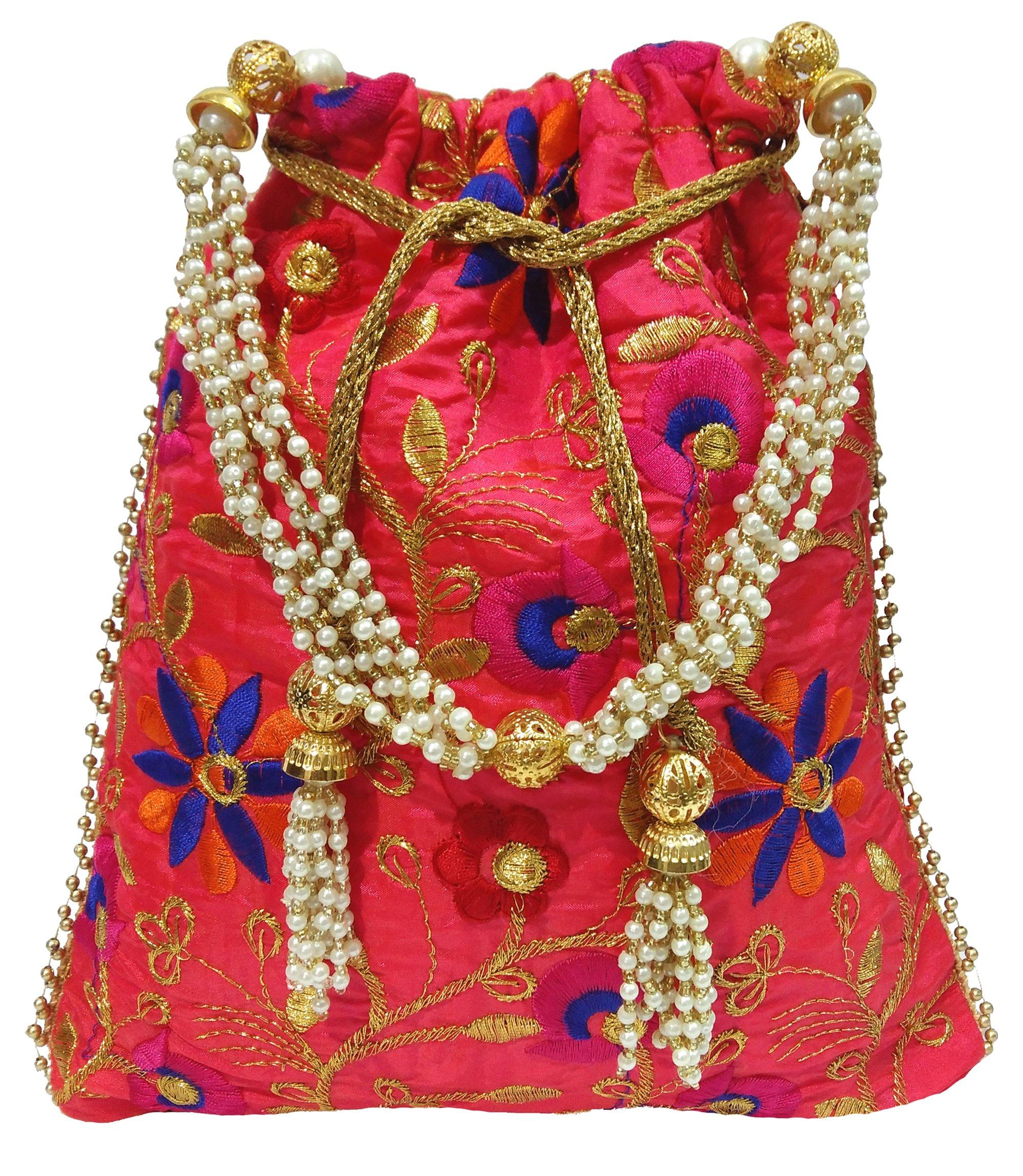 Wedding Women Purse Party Designer Bridal Clutch / Jewelry Pouch / Indian Evening Potli Handbag