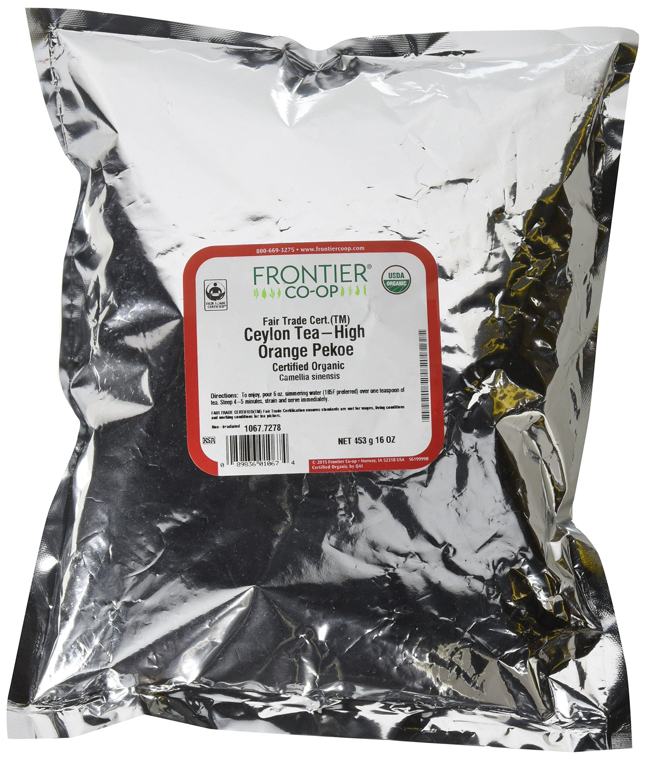 Frontier Co-op Organic Fair Trade Certified Ceylon High Grown Tea, Flowery Orange Pekoe, 16 Ounce