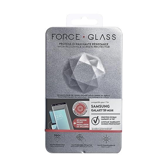Force Case Kit de Protector de Pantalla de Cristal Templado para Samsung Galaxy S9: Amazon.es: Electrónica