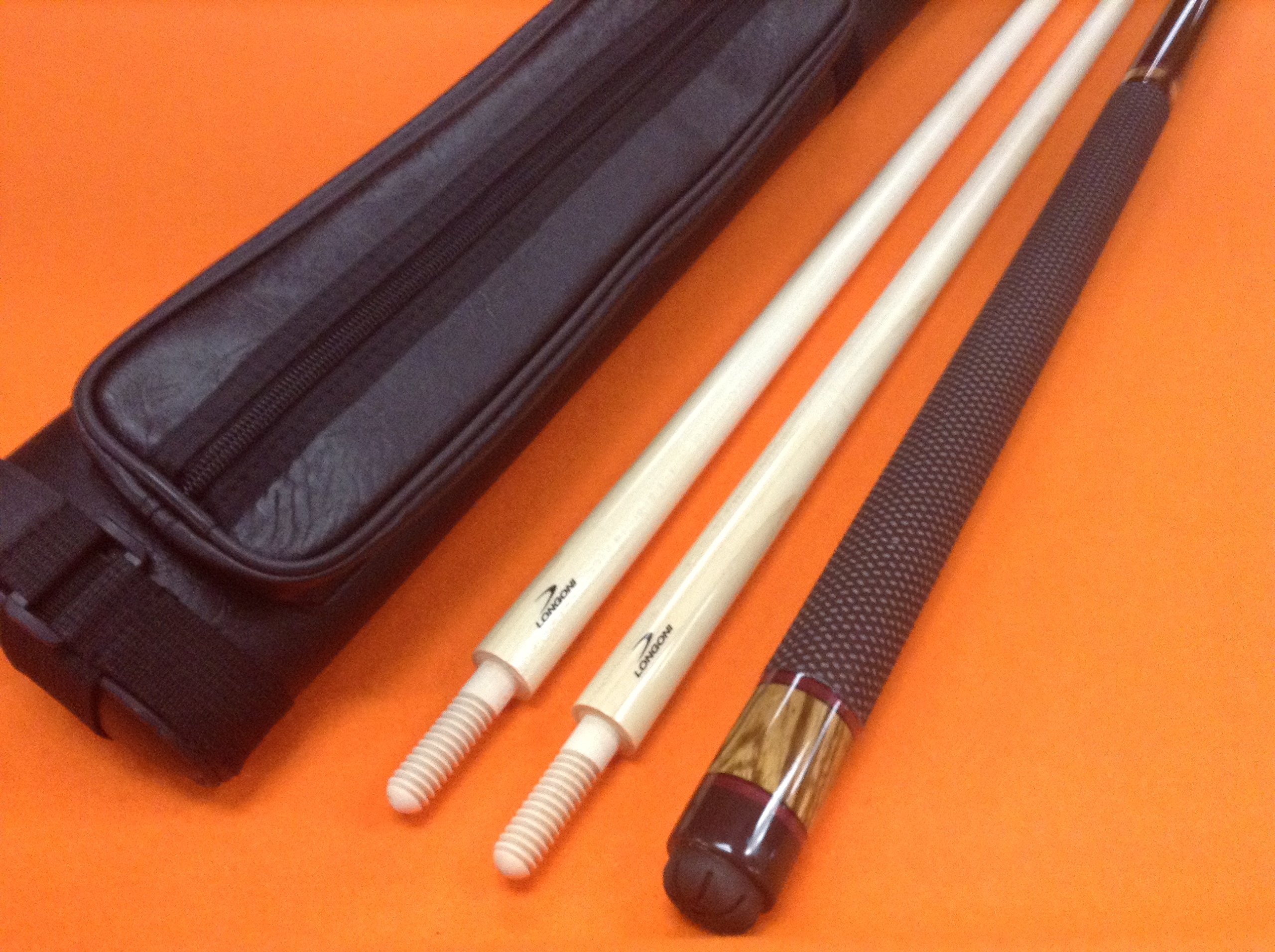 LONGONI CAROM CUE COPENHAGEN WITH 2 SHAFTS & CASE