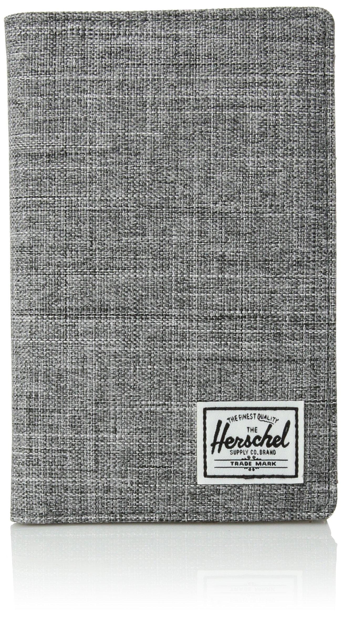 Herschel Supply Co. Search RFID Passport Holder, raven crosshatch, One Size