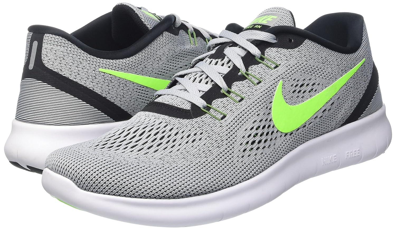 NIKE Men's Free RN Running Shoe B00AH9PU90 6.5 B(M) US|Pure Platinum/Electric Green/Anthracite