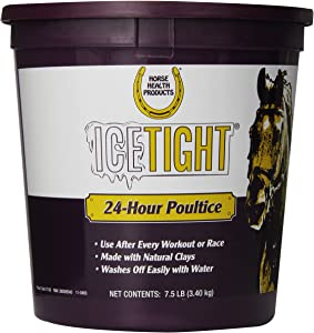 Horse Health Ice Tight Poultice for Horses | Use after Workouts or Races | For Use on Horse' Knees, Tendons and Ankles | Lasts 24 Hours