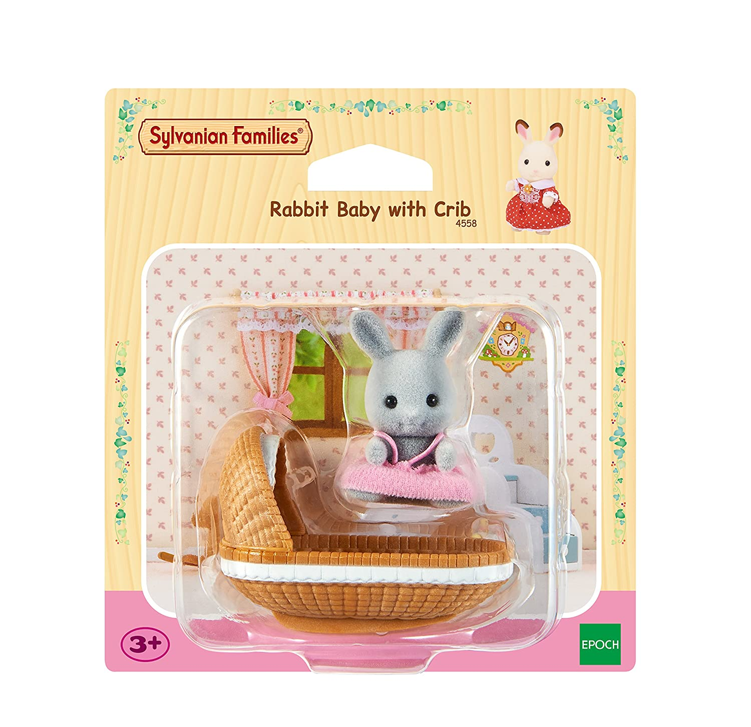 Amazon.es: SYLVANIAN FAMILIES Rabbit Baby with Crib Mini muñecas y Accesorios Epoch 4558: Juguetes y juegos