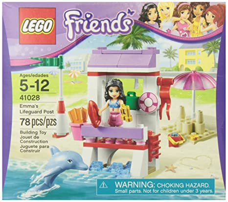Amazoncom Lego Friends 41028 Emmas Lifeguard Post Toys Games