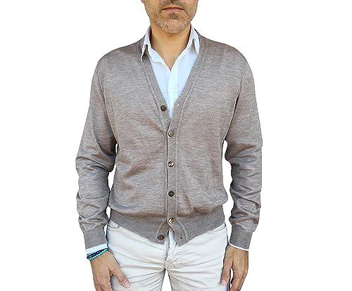 Jersey con Cuello en V para Hombre 100% Cachemir - Made in ...