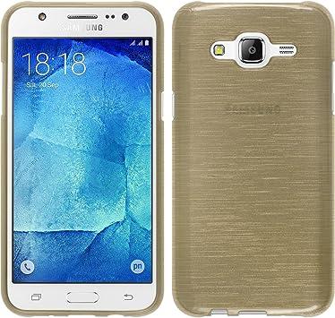 PhoneNatic - Carcasa para Samsung Galaxy J5 (2015-J500) (Silicona, Incluye 2 Protectores de Pantalla), Color Dorado: Amazon.es: Electrónica