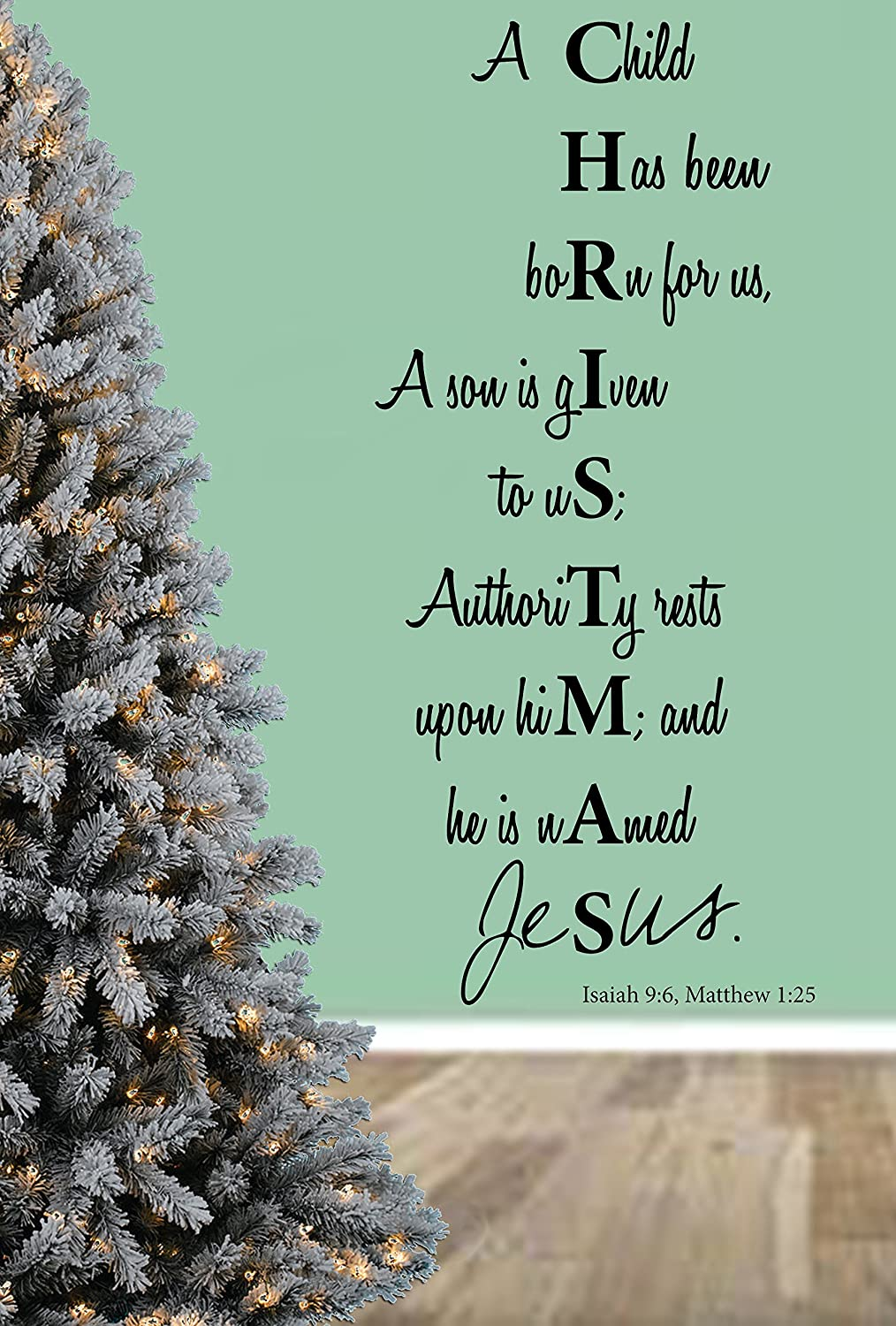 Is Christmas In The Bible.Christmas Bible Verse Quote Unto Us A Child Is Born