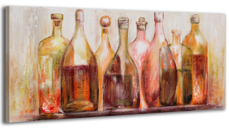 YS-Art Acryl Gemälde Weine der der der Welt   Handgemalt   115x50cm   Wand Bild   Moderne Kunst   Leinwand   Unikat   mehrfarbig d57627
