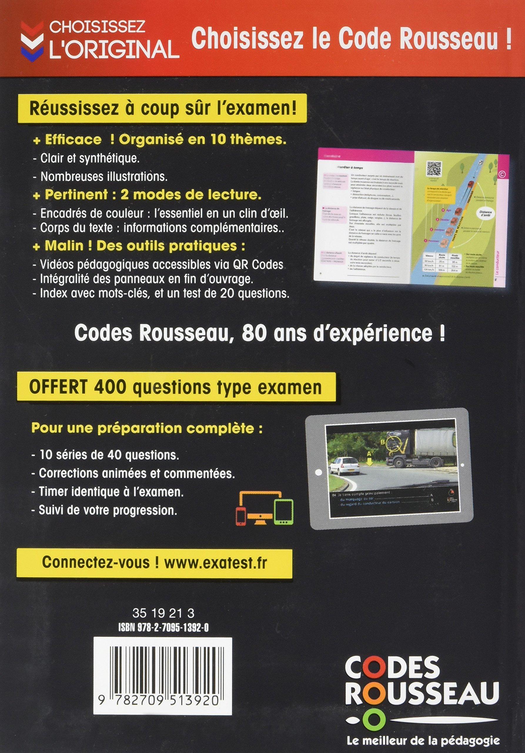 Amazon.fr - Code Rousseau de la route B 2017 - Code Rousseau - Livres