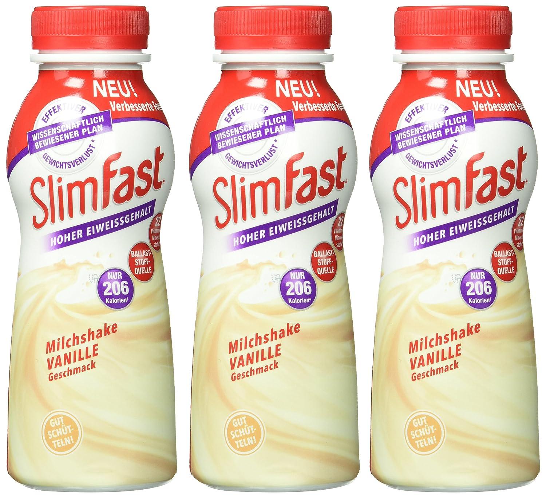 Slim Fast Fertiggetränk Vanille, 3er Pack (3 x 325 ml): Amazon.de ...
