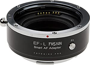 Fotodiox Pro Fusion Adapter, Smart AF Adapter - Compatible with Canon EOS (EF/EF-S) D/SLR Lenses to Select L-Mount Alliance Mirrorless Cameras with Full Automated Functions