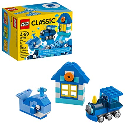 Amazon Lego Classic Blue Creativity Box 10706 Building Kit