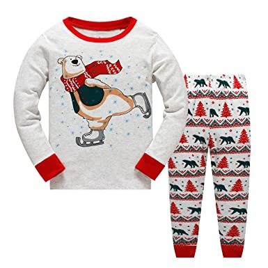 c72372292d Garsumiss Boys Girls Christmas Pyjamas Set Kids Xmas Pjs Sleepwear Toddler Santa  Clothes Unisex Winter Nightwear