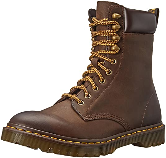Dr. Martens padten Dark Brown Burn 16770201, Botines Hombre, (marrón), 46: Amazon.es: Zapatos y complementos