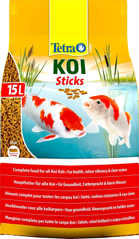 Tetra Pond Koi Fish Food Sticks, Complete Food for All Koi Fish, 15 ...