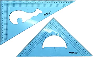 Amazon.com: Set of 2 Large Metric Triangle Set Square: 12 Inch (30 ...